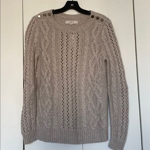 LOFT cable knit sweater NEW